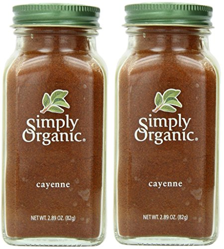 (Simply Organic Cayenne Pepper Certified Organic Containers - 2.89 Oz (Pack of 2))
