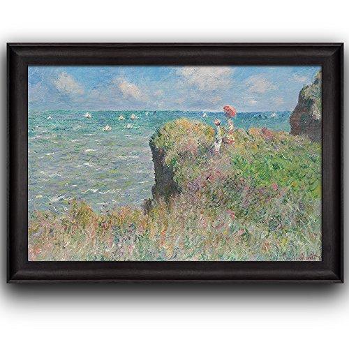 Cliff Walk at Pourville by Claude Monet Framed Art