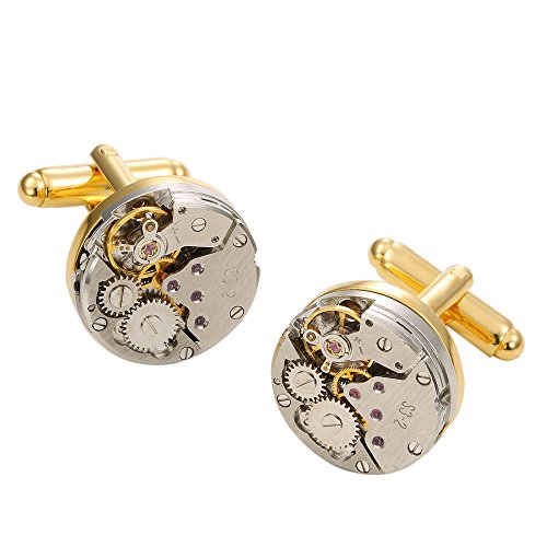 GOHUOS Vintage Steampunk Mechanical Cufflinks product image