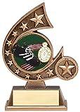 Etch Workz 5-3/4'' Track Awards - Personalized Track Trophy