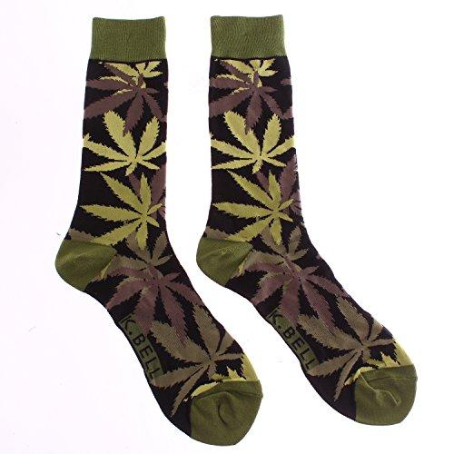 Hemp-Leaf-Jungle-Mens-Crew-Socks