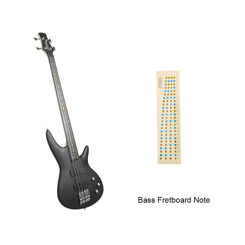 wandic guitarra Fretboard Nota trastes diapasón de mapa adhesivo para principiante estudiante práctica Fit 6 cuerdas acústica guitarra eléctrica: Amazon.es: ...