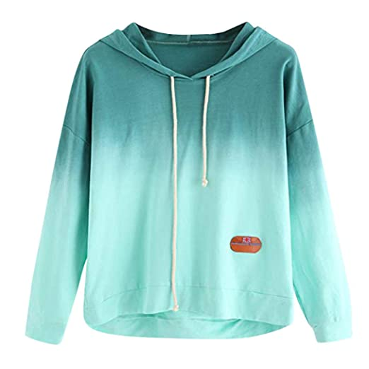 7a5a2efbe Pervobs Women Sweatshirt, Clearance! Women's Autumn Cute Long Sleeve Tie  Dye Printed Hoodie Pullover