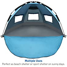 EasyGo Shelter - Instant Beach Umbrella Tent Sun Sport Shelter