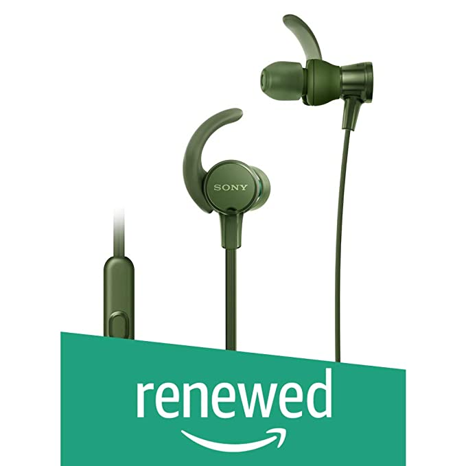 Renewed  Sony Extra Bass MDR XB510AS in Ear Sports Headphones with Mic  Green  In Ear Headphones