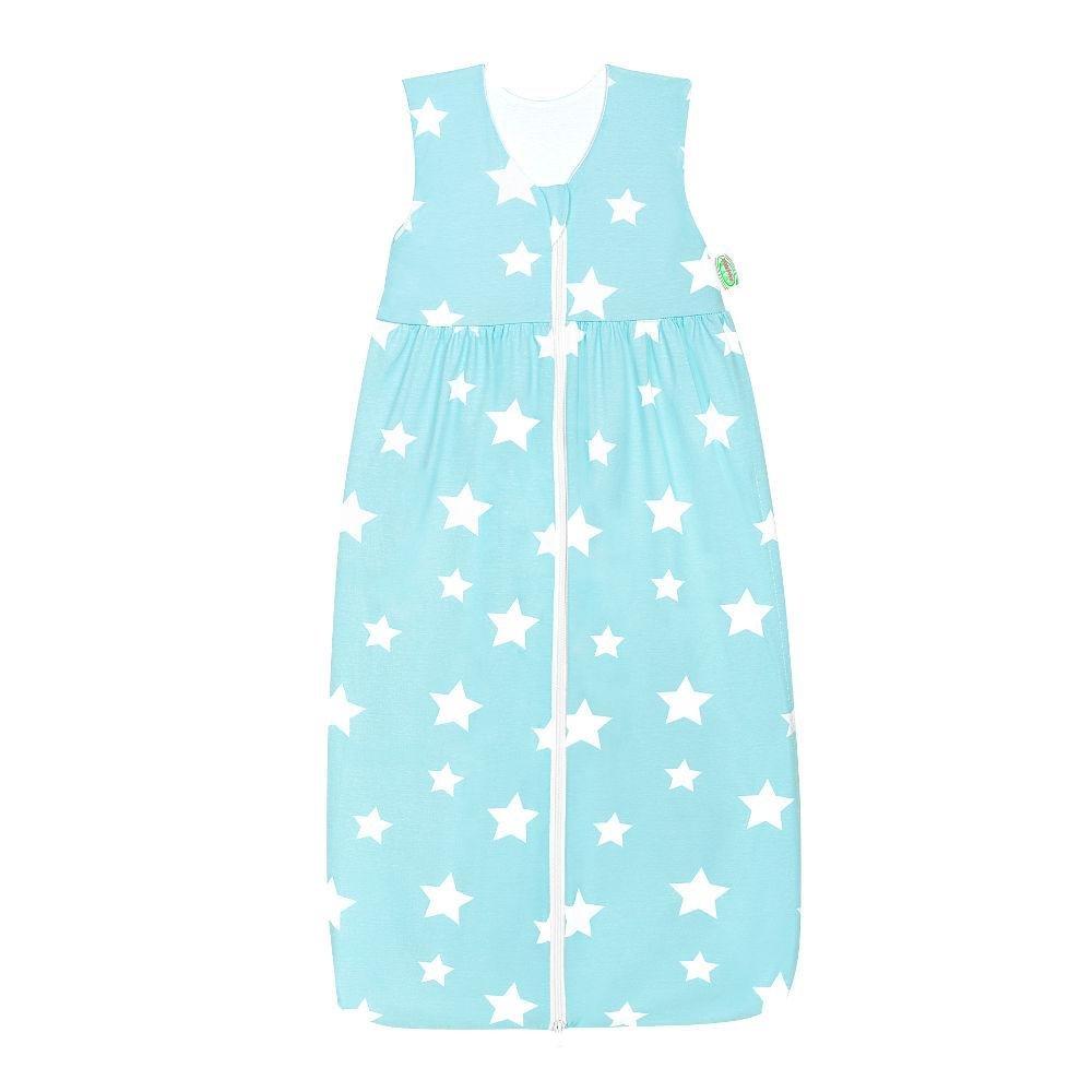 Odenwälder Jersey-Schlafsack Anni white stars frozen minze, Größe:110