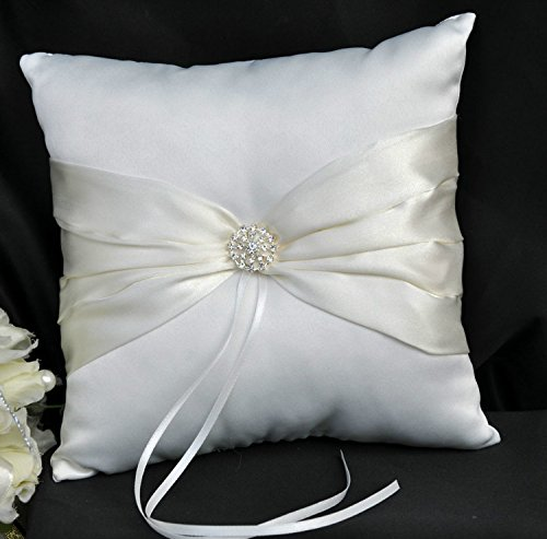 Ivory Flower Girl Baskets Australia : Teasun flower girl basket ring bearer pillow wedding