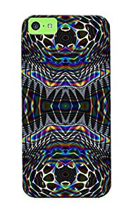 New Premium Flip Case Cover Psychedelic Tumblr Skin Case For Iphone 5c