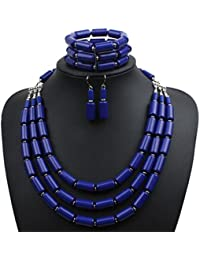 Fashion Handmade Bead Multilayer Statement Necklace...