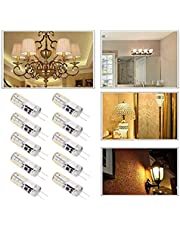 G4 LED-lamp, Dimbaar mini 1,2W - 10st 12V 24LED 3014 lichtchips Warm Licht Lampen Bi-Pins Lichtbron Voor Thuis Plafondlamp Wandlamp