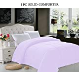 Elegant Comfort Luxury Goose Down Alternative Double-Filled Comforter, Twin/Twin X-Large, Lilac
