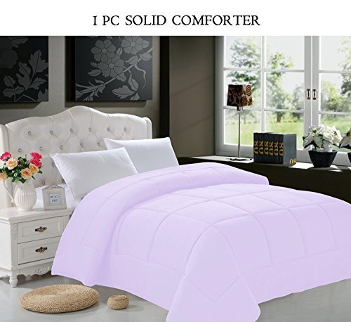 Elegant Comfort All Season Goose Down Alternative Double-Fill Comforter, Twin/Twin XL, Lilac
