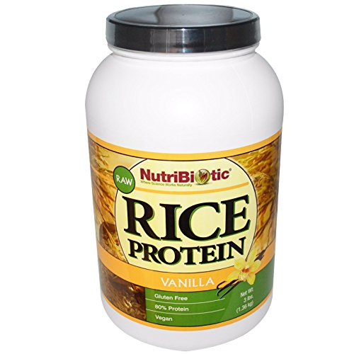 NutriBiotic, Rice Protein, Vanilla, 3 lb (1.36 kg) - 3PC by Nutribiotic
