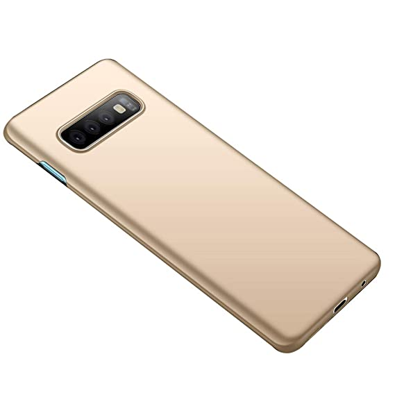 best service 10b8c 8b7d6 Anyos Galaxy S10 Case, Slim Fit Matte Finish Minimalist Cover for Samsung  GalaxyS10 (Gold)