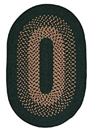 Madison Oval Area Rug, 3 by 5-Feet, Alpine Green