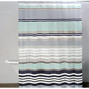 Amazon.com: DKNY Fabric Shower Curtain -- Urban Lines, Barrier Reef ...