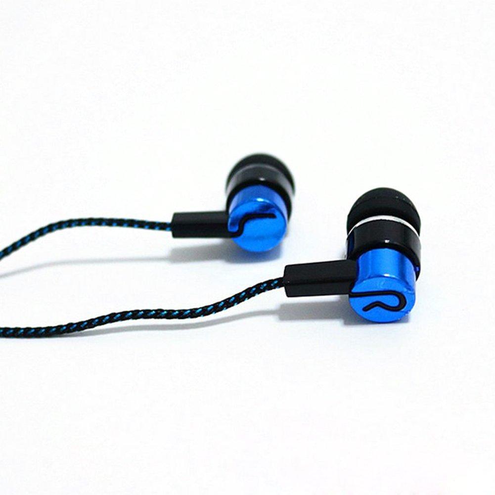 heaven2017 Stylish 3.5mm Braid Cord Stereo In-Ear Earbuds Earphone Headphone