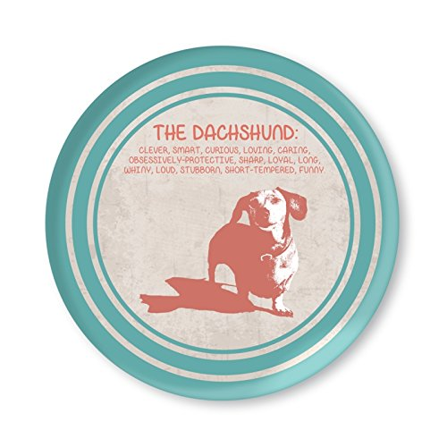 Dachshund Definitions Melamine Collectable Plate (Blue & Pink)