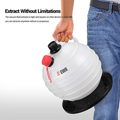 EWK 6L Manual Fluid Extractor Pump Vacuum Oil Changer Evacuator Kit by EWK (Image #4)