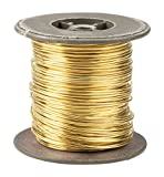 Brass Wire - Bare Wire, Metal Wire for Industrial Use, Jewelry Making, Beading, DIY Art Craft Projects, 18 AWG, 195 Feet