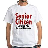 CafePress - Senior Citizen Discount White T-Shirt - 100% Cotton T-Shirt, White