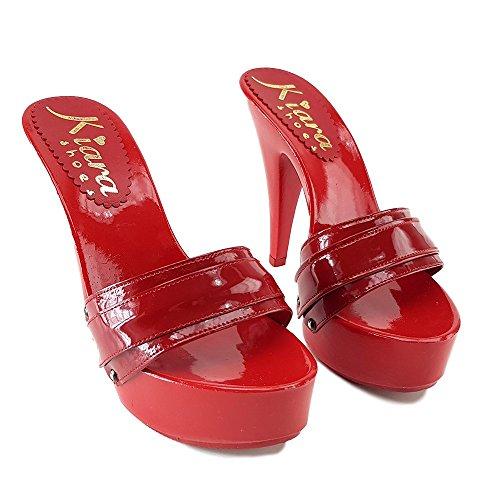 kiara Sabot K9601 Vernis Rouge shoes Rosso 88fZwpq