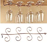 VALINK Stemware Racks, 1Pcs 6/8 Wine Glass Rack, Stainless Steel Wine cup Holder, Stemware Hanging Stand, Under Cabinet Holder, Drinking Glass Storage Organizer Hanger Shelf for Household Bar Tools