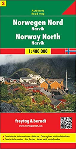 Norway North Road Map Narvik No Country Mapping S Amazon - Norway map amazon