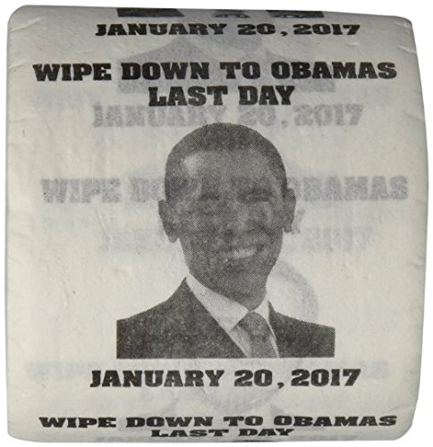 OBAMAS LAST DAY-JANUARY 20, 2017 -FUNNY TOILET PAPER (Black Toilet Paper)