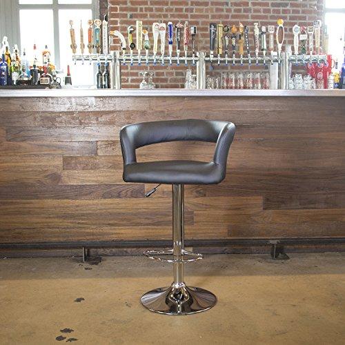 AmeriHome 24 Adjustable Swivel Bar Stool with Cushion, Bar ,