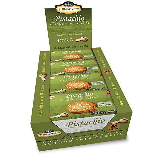 Nonni's THINaddictives, Thin Cookies, Pistachio Almond, 12 Count, 11.8 Ounce