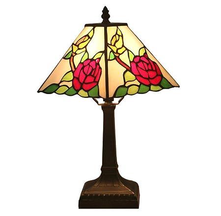 GDLight Lámpara de Mesa de Estilo Vintage de Tiffany, lámpara de ...