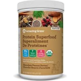 Amazing Grass Organic Plant Based Vegan Protein Superfood Powder, Flavor: Chocolate Peanut Butter, 430 Grams, Meal Replacement Shake