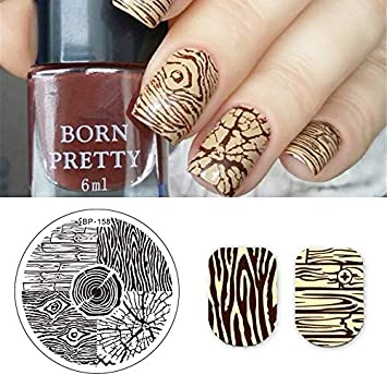 Amazon.com : Xemesis-Store - Round Stamping Plate - gel nail polish ...