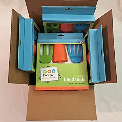 Twigz Hand Gardening Tools Set for Kids - Multipack of 8 Sets - Big Savings for Childrens Gardening Groups and Classes and Workshops !