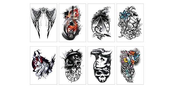 PAMO 8 hojas diferentes Halloween Temporary Tattoos autoadhesiva ...
