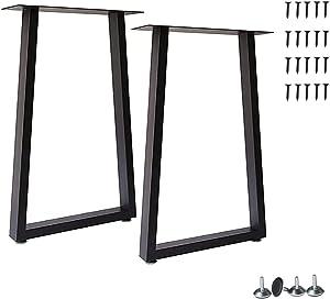 Yahpetes Table Legs 2 Pcs Metal Furniture Legs 28