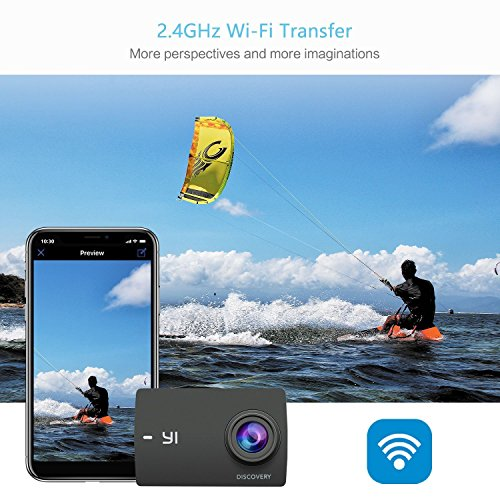 "51wipzhxDvL - YI Discovery Action Camera, 4K Sports Cam with 2.0"" Touchscreen, Built-in Wi-Fi, 150°Wide Angle, Sony Image Sensor for Underwater, Outdoor Activity"