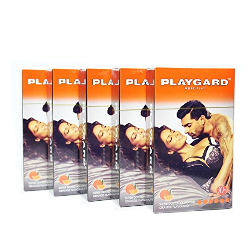 Playgard More Play Superdotted Condoms Orange 10's (Pack Of ()