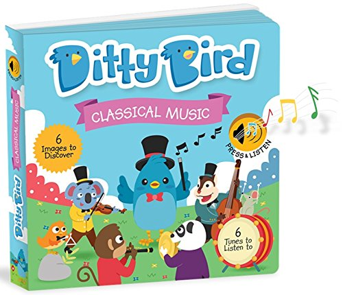 OUR BEST INTERACTIVE CLASSICAL MUSIC SOUND BOOK for BABIES with Melodies Mozart Beethoven. Educational Toys ages 1-3. Baby Books for one year old. Toddler Musical Book. 1 year old boy girl gifts. by Ditty Bird