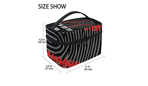 ffdce8e2b312 Amazon.com : Baseball DNA Hanging Toiletry Bag Travel Toiletries Bag ...