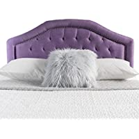Kaarina Elegant Fabric Queen/Full Headboard (Light Purple)