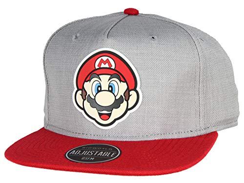 bioWorld Nintendo Super Mario Bros - Mario Rubber Logo Snapback Cap -