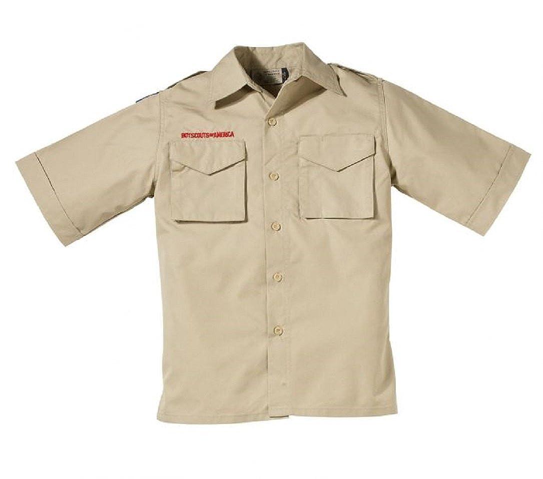 Boy Scout Youth Short-Sleeve Cotton Rich Poplin Shirt
