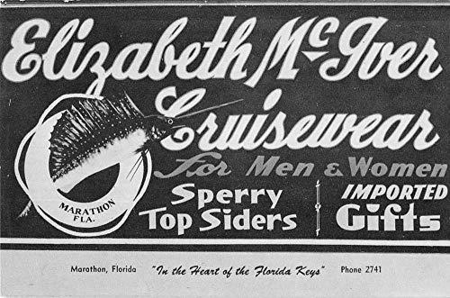 Marathon Florida advertising Elizabeth McIver Cruisewear antique pc BB2185