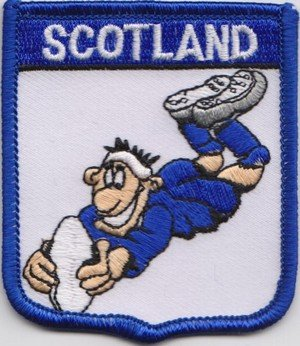 Scotland Rugby Union Flag Embroidered Badge (a313)