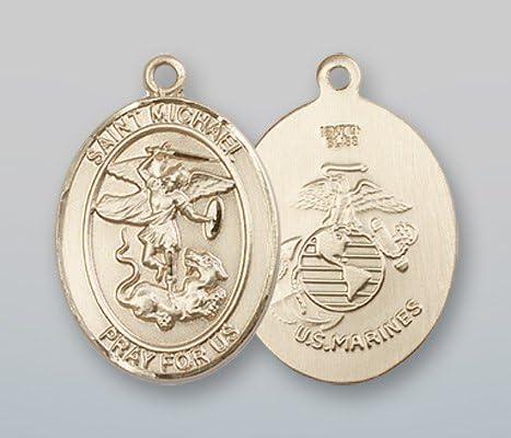 14ktゴールドセントマイケル・/海兵隊メダル