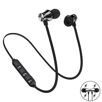 swiftt Bluetooth Auricular Inalámbrico en deportes Correr Tapones con micrófono inalámbrico para dispositivos Apple y Android Negro: Amazon.es: Electrónica