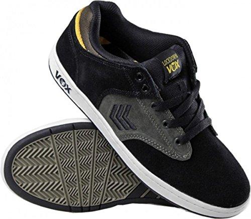 Vox Skateboard Shoes Lockdown Black / Grey / Yellow iSznS9z6