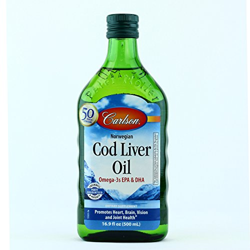 Carlson Norwegian Cod Liver Oil Regular Flavor 16 9 Fl Oz  500 Ml